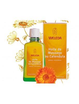 Huile de Massage au Calendula - Réchauffe et prend soin de la peau sensible...