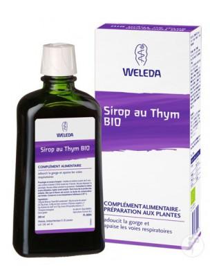 Sirop au Thym Bio - Adoucit et apaise les voies respiratoires 200 ml - Weleda