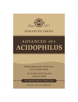 Image de Advanced 40 Plus Acidophillus - Probiotiques 60 gélules végétales - Solgar depuis Les probiotiques au service de la digestion