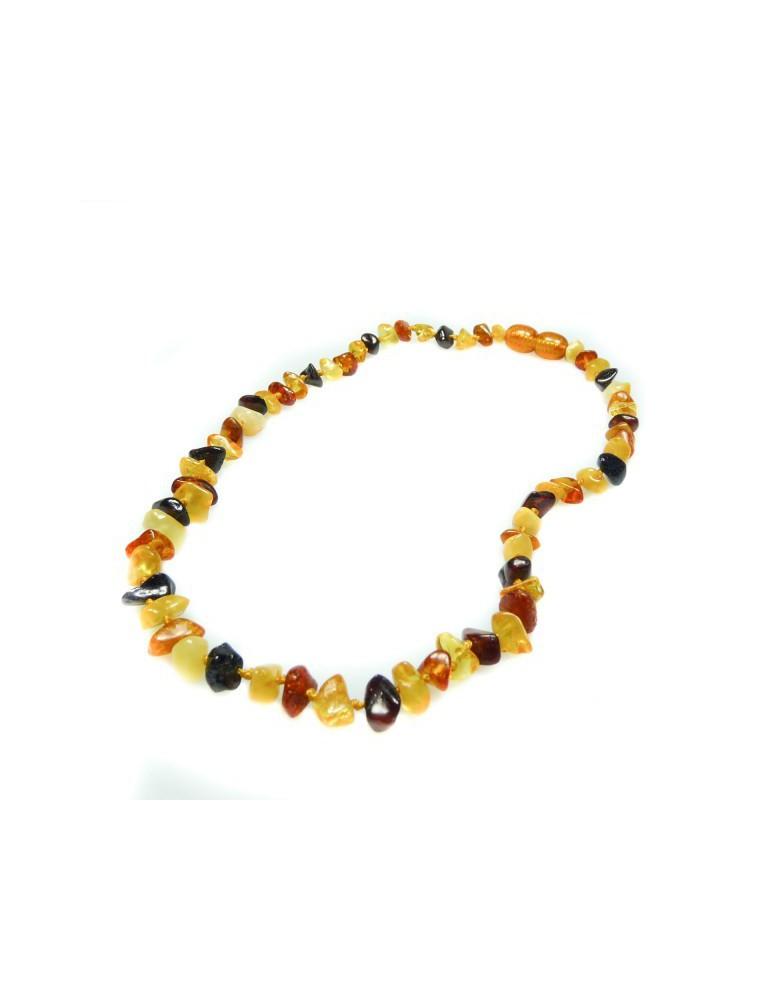 Collier d'Ambre multicolore pour bébé - 29 cm