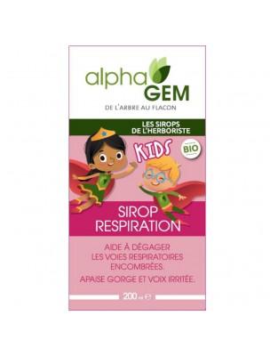 Sirop Respiration Kids Bio - Voies respiratoires 200 ml - Alphagem