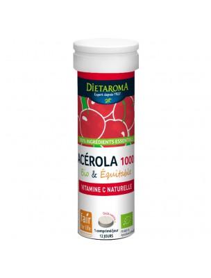 Image de Acérola 1000 Bio - Réduction de la fatigue 12 comprimés - Dietaroma depuis Une santé quotidienne naturelle