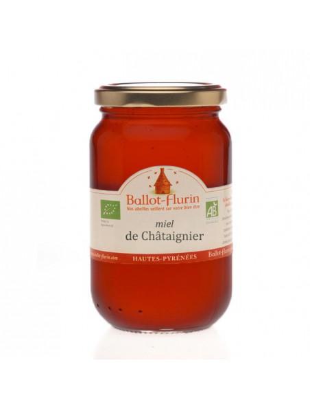 Miel de Châtaignier Bio 500g -  Arômes puissants et boisés - Ballot-Flurin