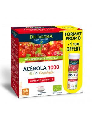 Image de Acérola 1000 Bio - Réduction de la fatigue 24 comprimés + 1 tube offert - Dietaroma depuis Une santé quotidienne naturelle