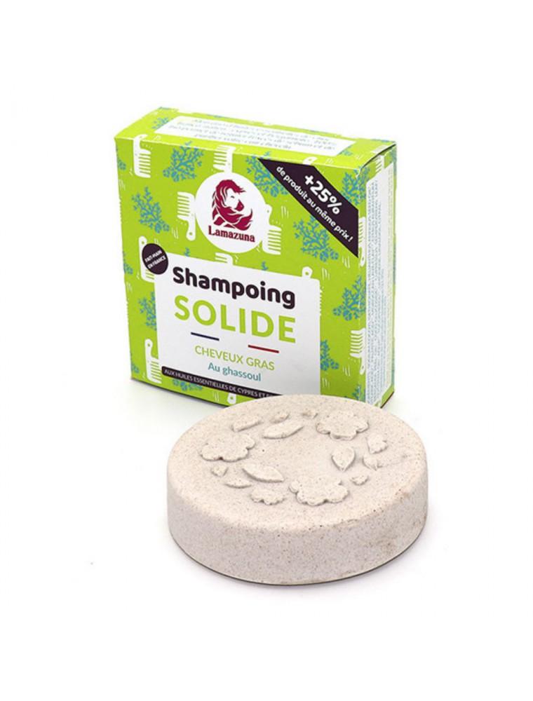 Shampoing solide pour cheveux gras Vegan - Ghassoul 70 ml - Lamazuna