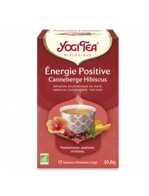 Energie positive - Canneberge et Hibiscus 17 sachets - Yogi Tea