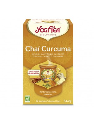 Chaï Curcuma - Bienfaisante, puissante et complexe 17 sachets - Yogi Tea
