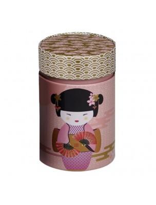 Boite à thé New Little Geisha Rose pour 150 g de thé