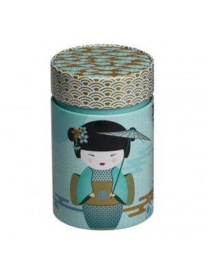Boite à thé New Little Geisha Petrol pour 150 g de thé