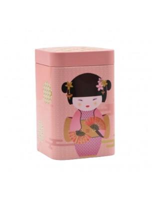 Boite à thé New Little Geisha Rose pour 100 g de thé