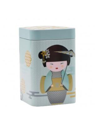 Boite à thé New Little Geisha Petrol pour 100 g de thé