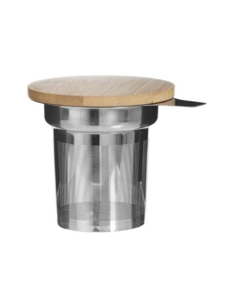 Infuseur à thé Inox et son couvercle en Bambou