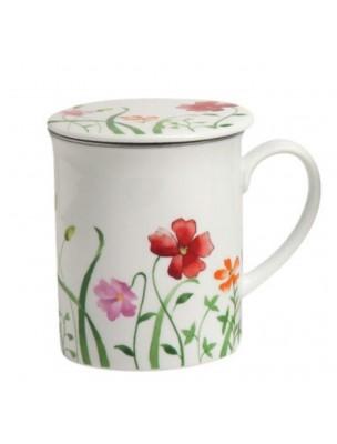 Tisanière Fleurs 3 pièces en Porcelaine 300 ml