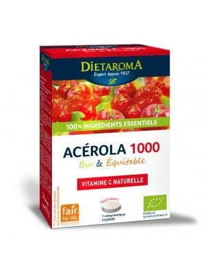 Image de Acérola 1000 Bio - Réduction de la fatigue 24 comprimés - Dietaroma depuis Une santé quotidienne naturelle