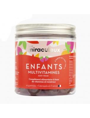 Gummies Multivitamines Enfants - Multivitamines Fraise 42 Gummies - Les Miraculeux