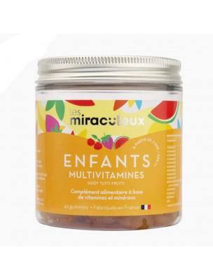 Gummies Multivitamines Enfants - Multivitamines Tutti Frutti 42 Gummies - Les Miraculeux
