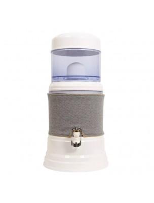 Image de Housse Gris Clair Jaune pour Fontaine à Eau en verre 7 Litres - Fontaine Eva depuis Fontaines à eau filtrante