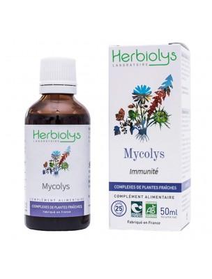 Mycolys Bio - Champignons Extrait de plantes fraîches 50 ml - Herbiolys