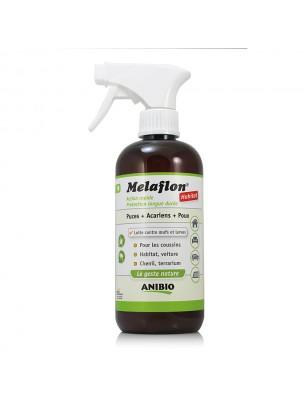 Image de Melaflon Spray Antiparasitaire pour habitat - Contre les puces, poux et acariens 500 ml - AniBio depuis Gamme de produits et accessoires pour un habitat paisible