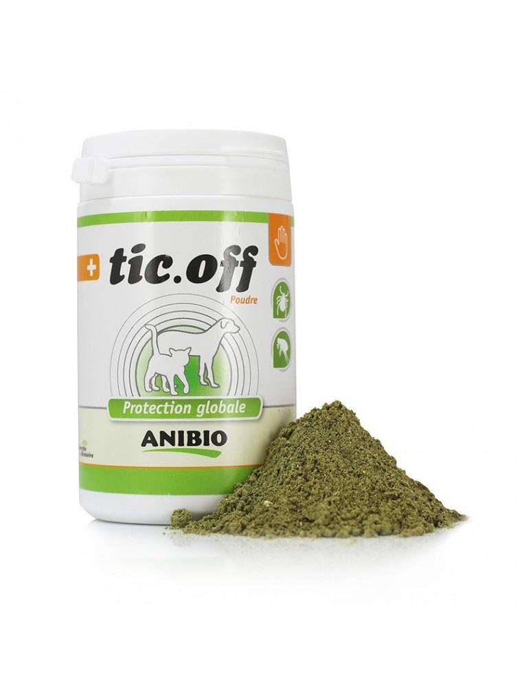 Tic-off en poudre - Protection tiques et puces 140 g - AniBio
