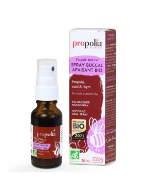 Image de Propolis Bio - Spray Buccal Apaisant 20 ml - Propolia depuis Acheter Sea Aquacell's - Gourde en Verre 500 ml - CSBS