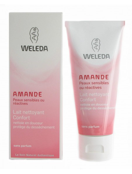 Lait nettoyant Confort à l'Amande douce - Peaux sensibles 75 ml - Weleda