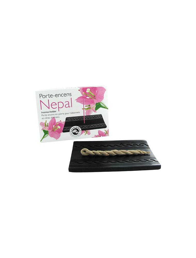 Porte-encens en pierre Nepal pour bâtonnets, cordelettes et cônes d'encens - Les Encens du Monde
