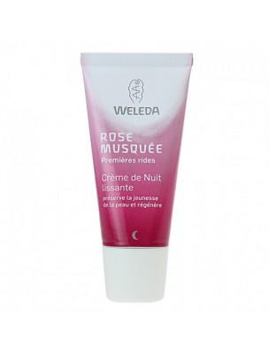 Crème de Nuit lissante à la Rose musquée - Régénère et nourrit la peau 30 ml...