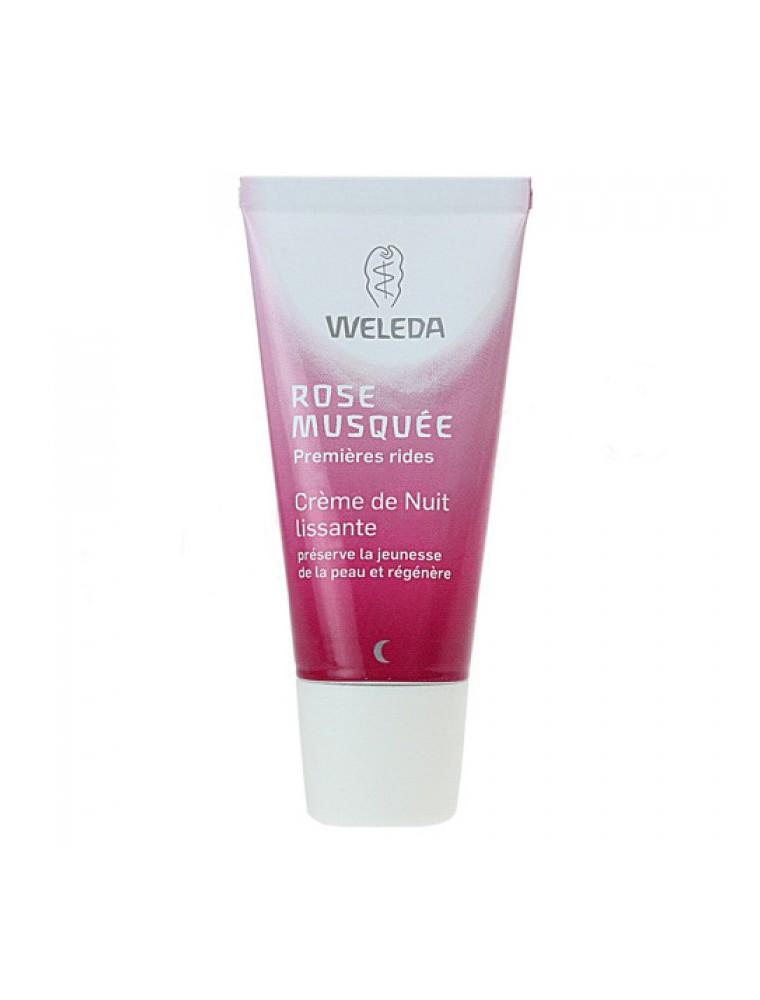 Crème de Nuit lissante à la Rose musquée - Régénère et nourrit la peau 30 ml - Weleda