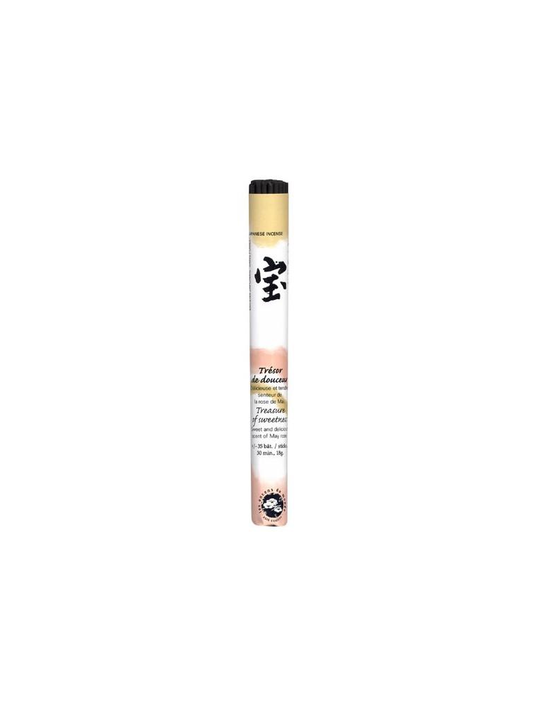 Trésor de Douceur encens traditionnel Japonais - 35 bâtonnets - Les Encens du Monde