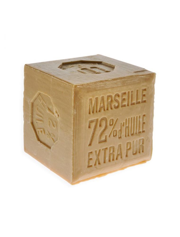 Savon de Marseille Bio extra pur blanc - Garanti 72% d'huile, pur végétal, 600g - Rampal Latour