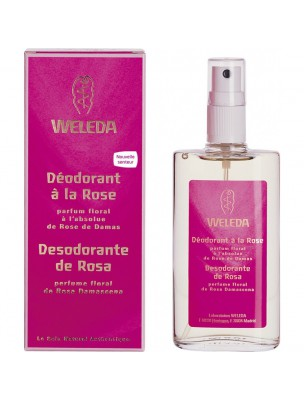 Déodorant Rose Musquée - Parfum floral 100 ml - Weleda