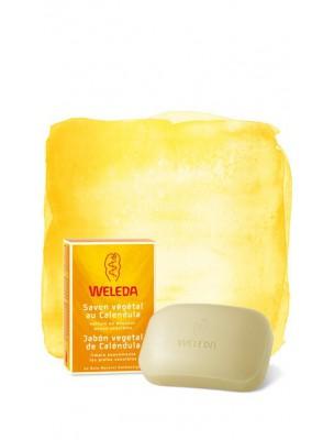 Savon végétal au Calendula - Nettoie en douceur les peaux sensibles 100 g -...