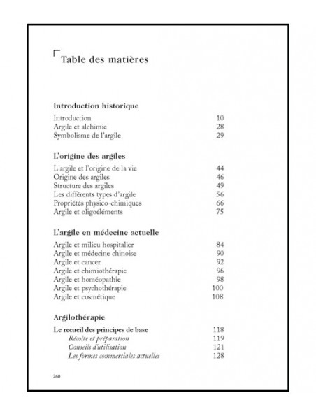 L'Argile, Médecine Ancestrale - 256 pages - Philippe Andrianne