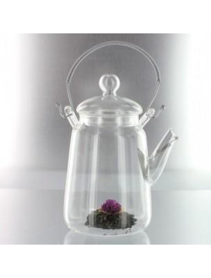 """Infuseur en verre """"Manon"""" avec son passe-thé métal intégré en col de cygne"""