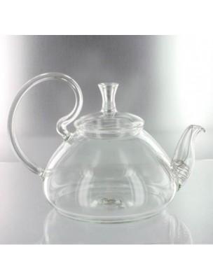 """Infuseur en verre """"Simbad"""" avec son passe-thé métal intégré en col de cygne"""