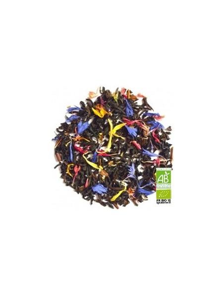 Jardin d'Eden Bio - Thé noir, fruits rouges et fruits jaunes, pétales de fleurs boîte 100g - L'Autre thé