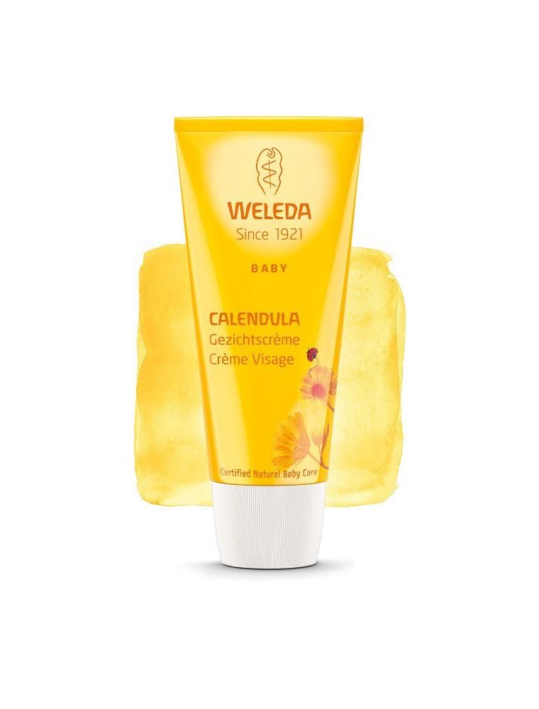 Crème visage au Calendula pour Bébé - Soigne et hydrate 50 ml - Weleda