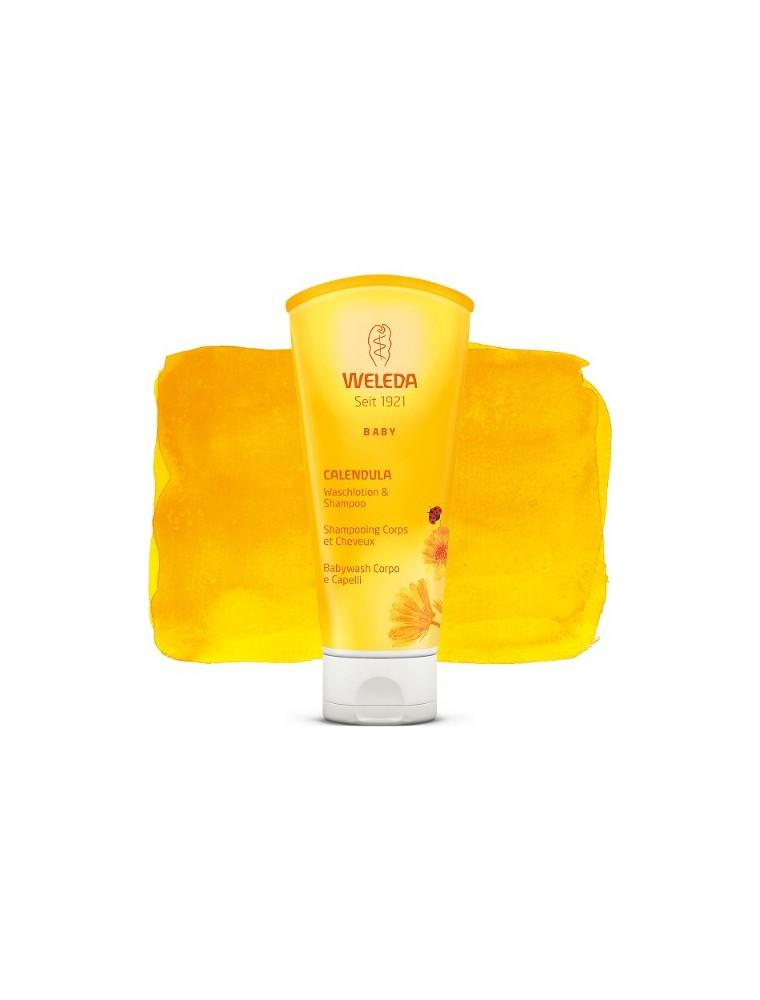 Shampooing Cheveux et Corps pour Bébé - Au Calendula 200 ml - Weleda