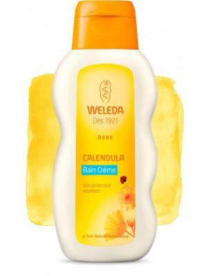 Bain Crème pour Bébé au Calendula - Soigne et nettoie en douceur 200 ml - Weleda