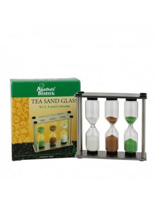 Sabliers pour thé - 3, 4 et 5 minutes Inox Supérieur - Agatha's Bester