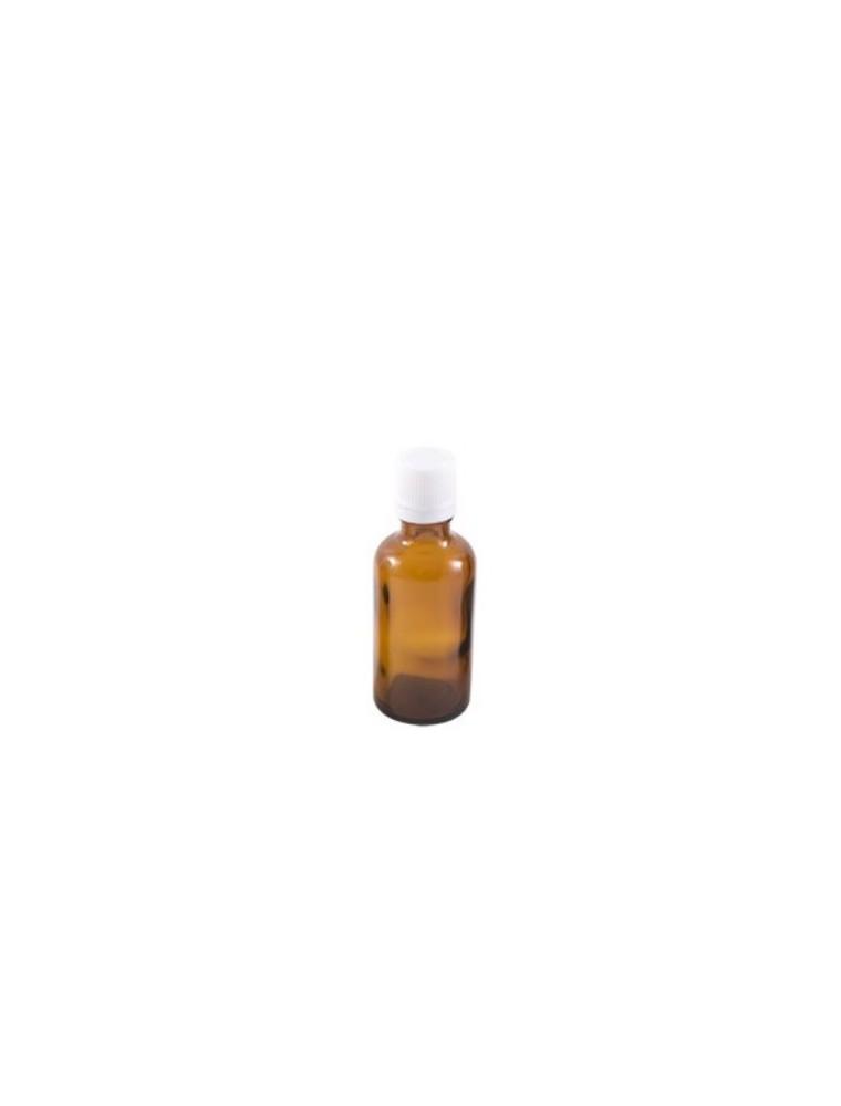 Flacon en verre brun de 50 ml avec compte-gouttes
