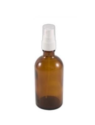Flacon en verre brun de 50 ml avec pompe spray