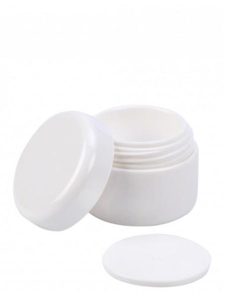Pot blanc de 250 ml pour sel de bain ou crème corporelle