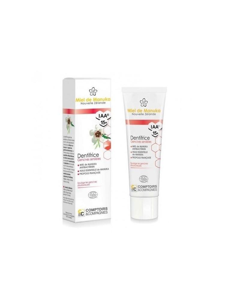 Dentifrice au miel de Manuka Bio - Gencives sensibles 75 ml - Comptoirs & Compagnies