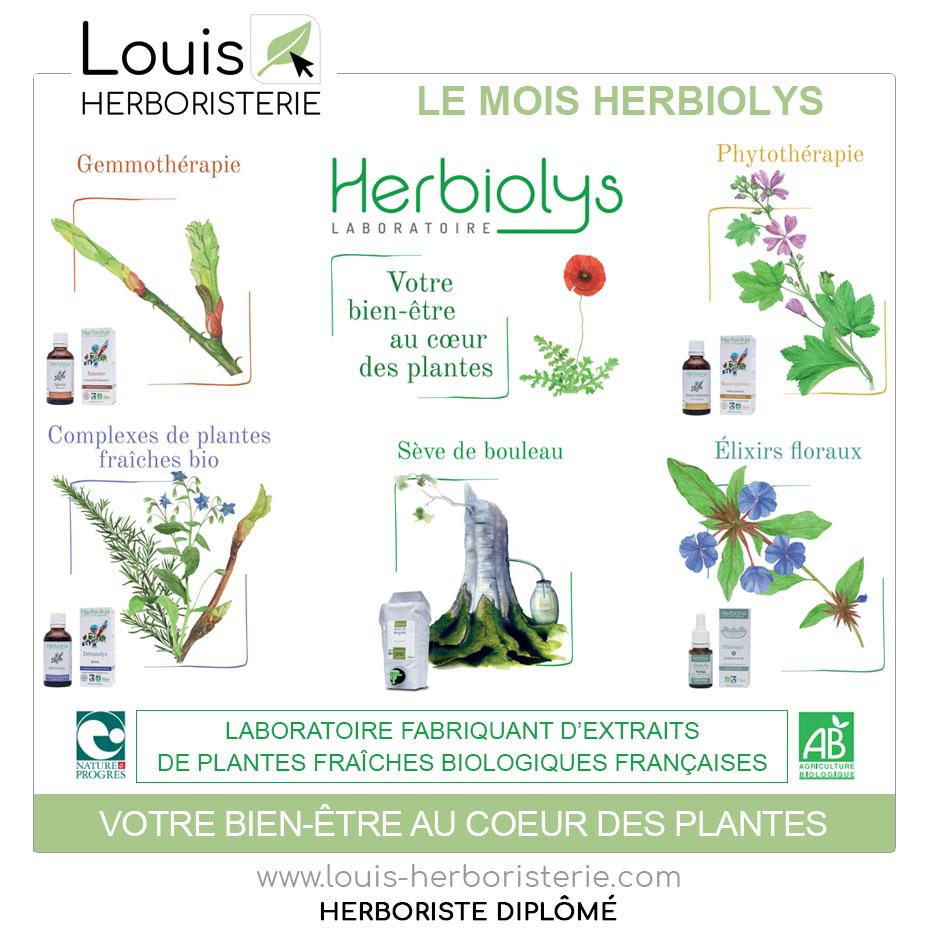 La gamme d'Herbiolys fait son entrée à l'herboristerie Louis