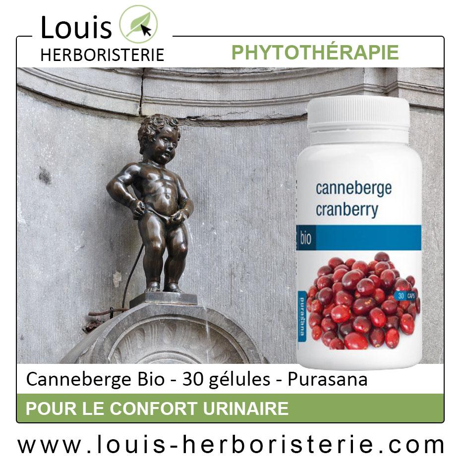 La canneberge Bio en gélules, efficace contre les infections urinaires, est disponible à l'herboristerie Louis