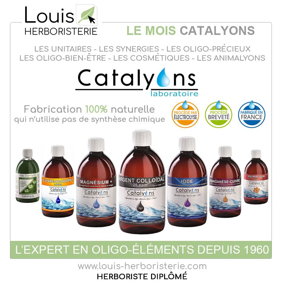 La gamme Catalyons est disponible à l'herboristerie Louis