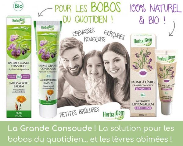 La consoude d'Herbalgem est disponible en baume chez Louis Herboristerie