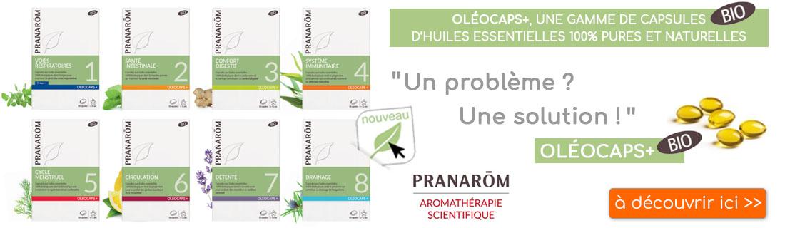 Découvrez les Oleocaps de Pranarom, disponibles à l'herboristerie Louis